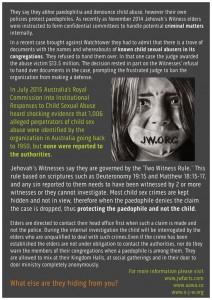 JWs and Child Abuse Back